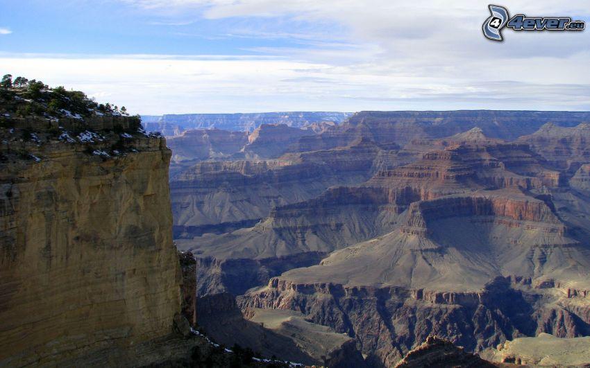 Grand Canyon, montaña rocosa, vista al valle