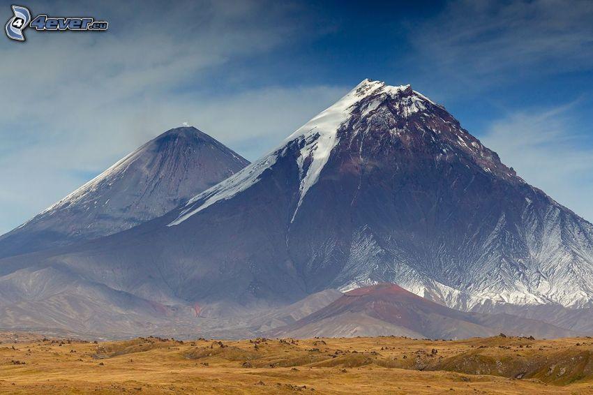 Kronotsky, montaña rocosa