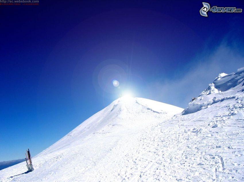 montañas, nieve