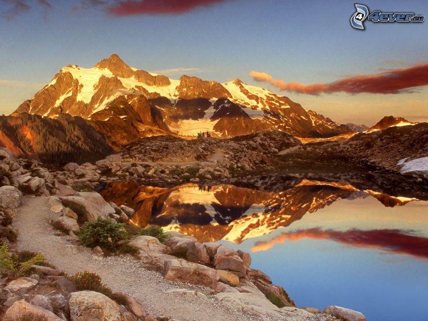 Mount Baker, Snoqualmie National Forest, lago de montaña