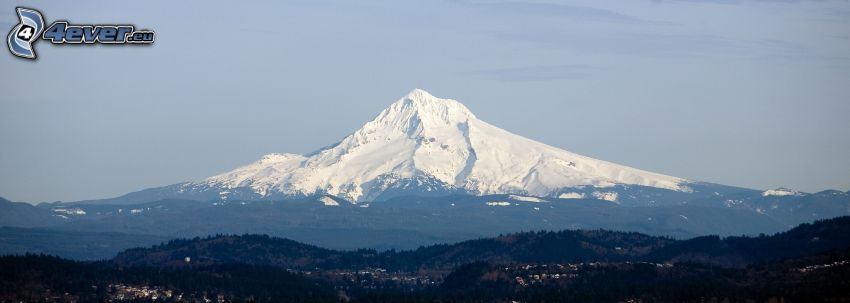 Mount Hood, montaña nevada