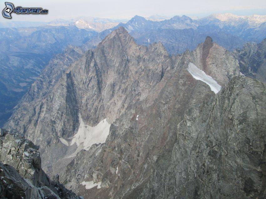 Mount Moran, Wyoming, montaña rocosa