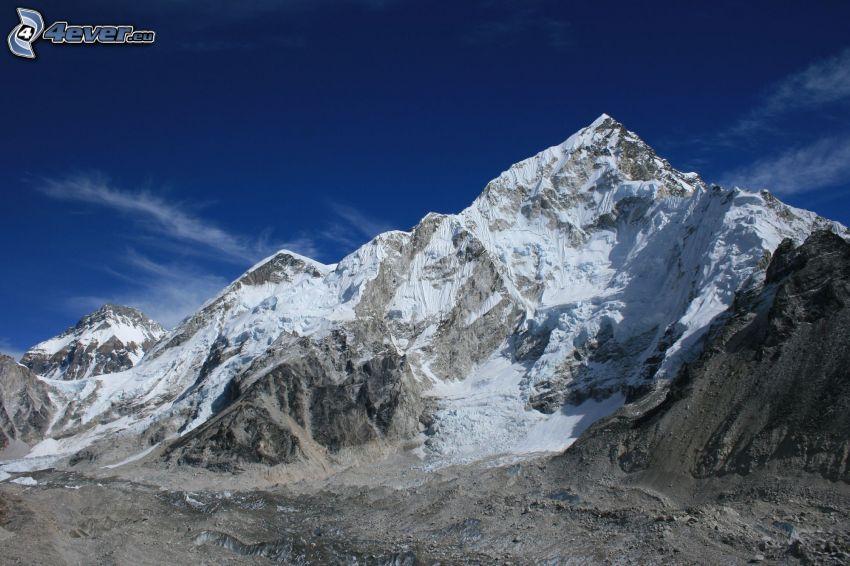 Mount Nuptse, montaña nevada, Nepal