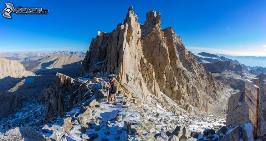 Mount Whitney, montaña rocosa, sierra