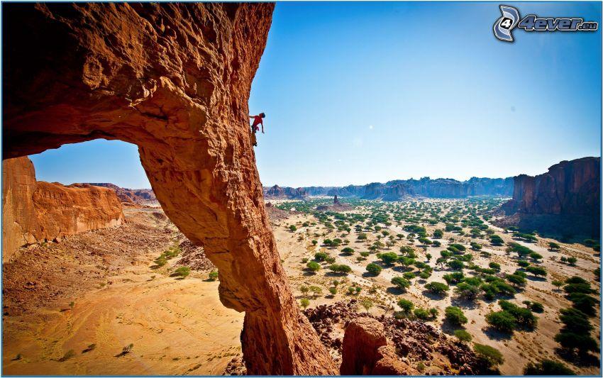 rocas del desierto, trepador