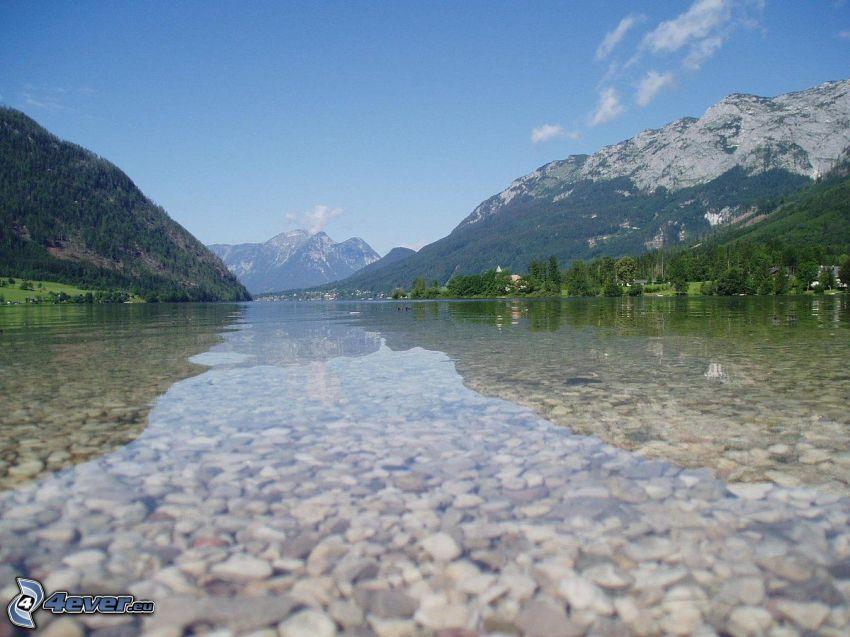 Totes Gebirge, lago, montaña rocosa