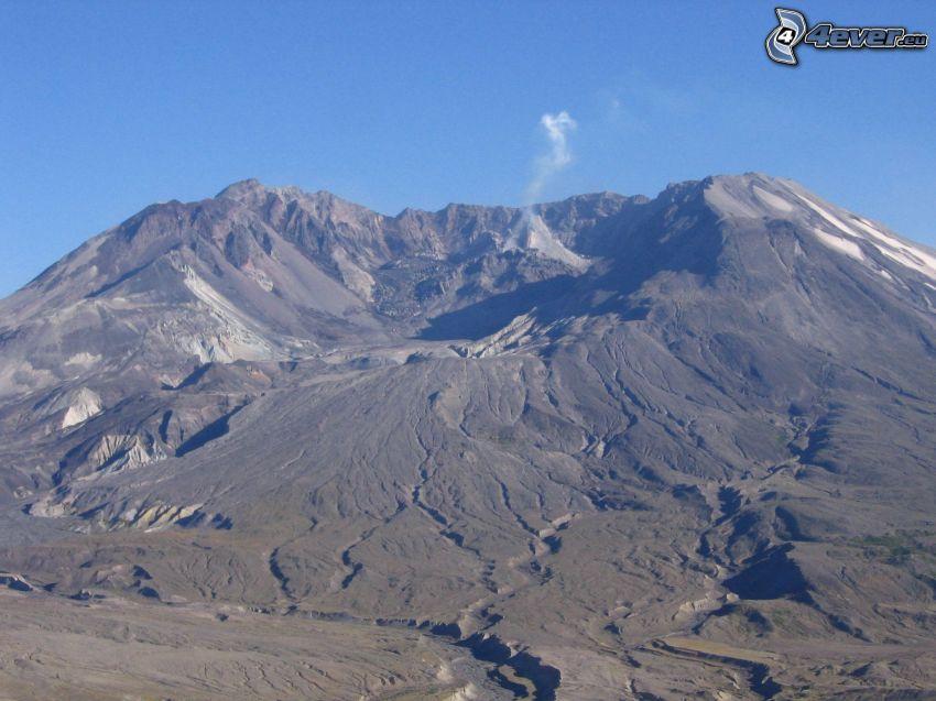 volcán, cráter, sierra