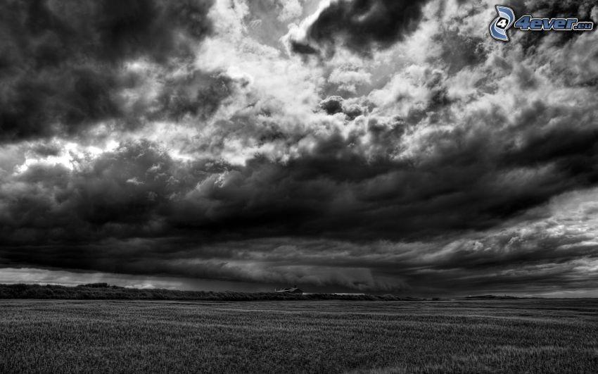 nubes oscuras, campo