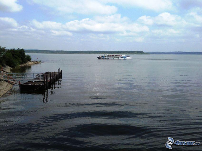barco turístico, agua