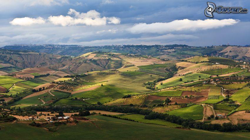 campos, vista del paisaje