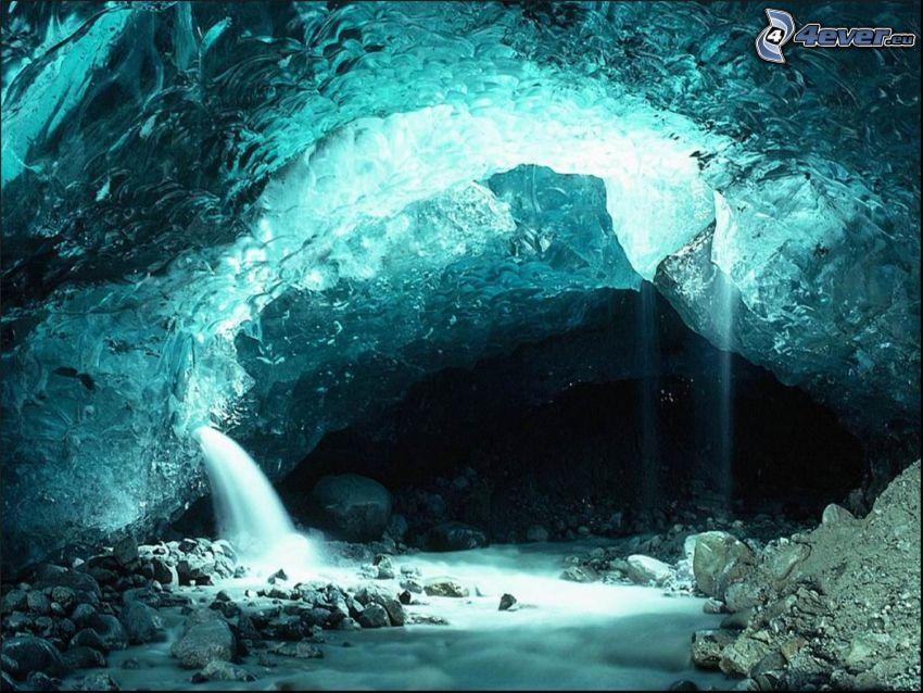 cueva, cristal, piedras