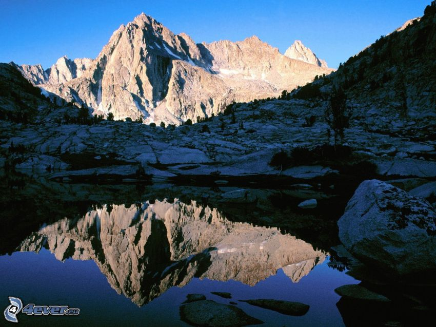 John Muir Wilderness, Sierra Nevada, colina, lago