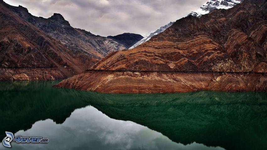 lago, colina