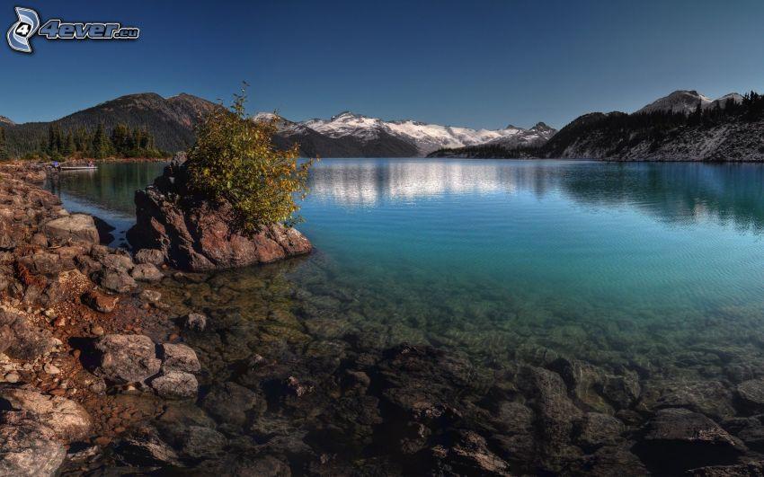 lago, sierra, costa