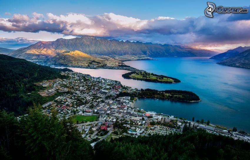Nueva Zelanda, ciudad costera