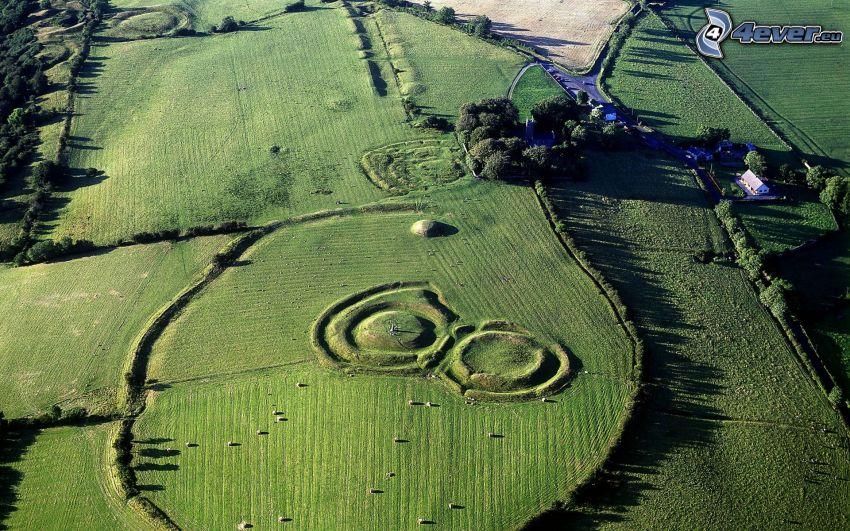 prado, vista aérea, Irlanda
