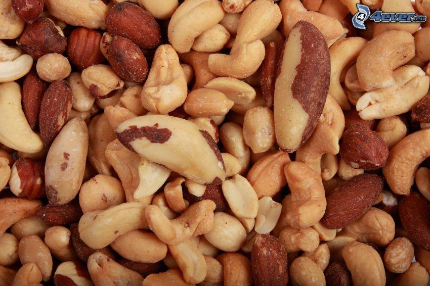 el nuez de Pará, cacahuates