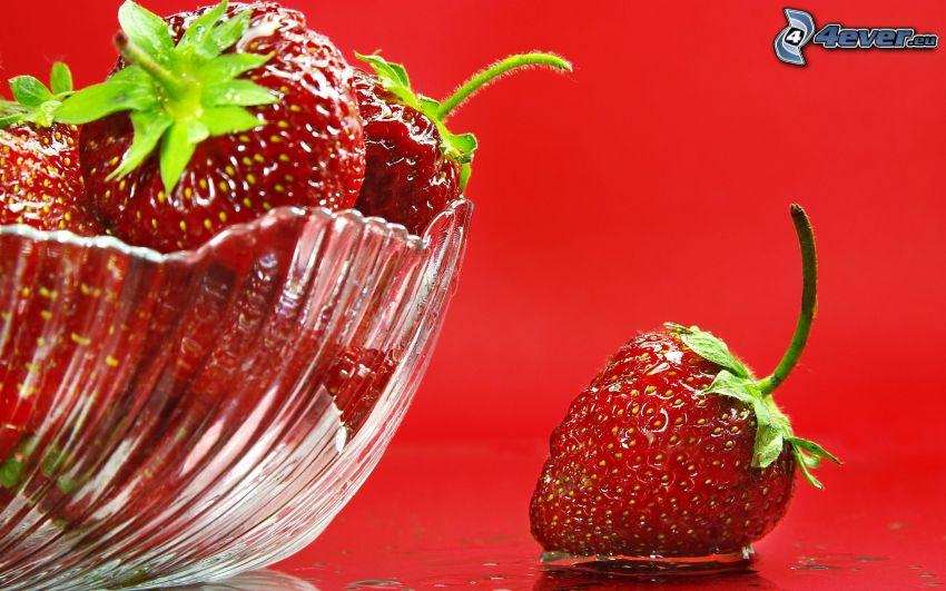 fresas, tazón