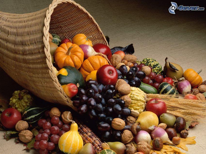 fruta, verduras