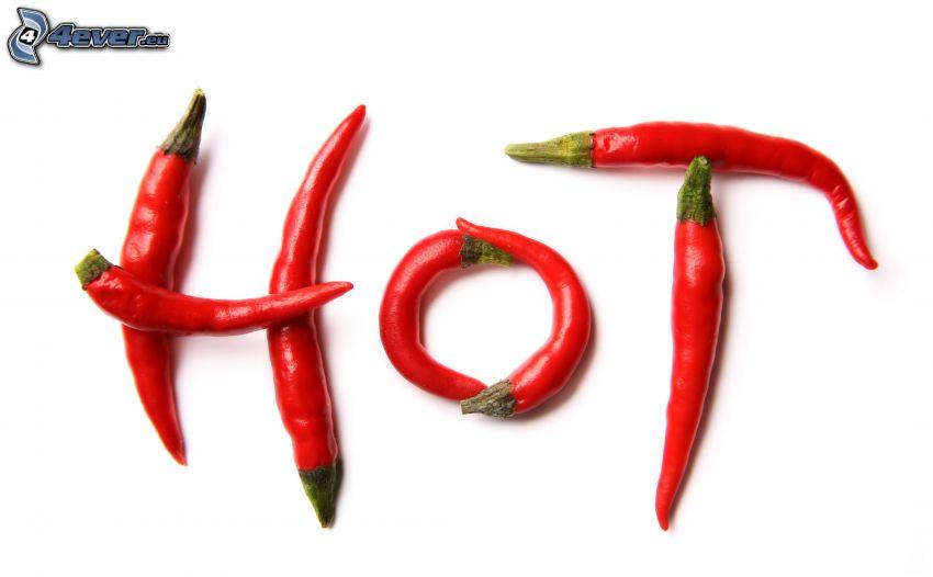 HOT, chiles rojos