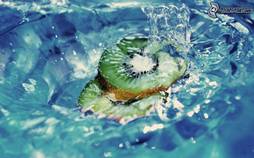 kiwi, agua