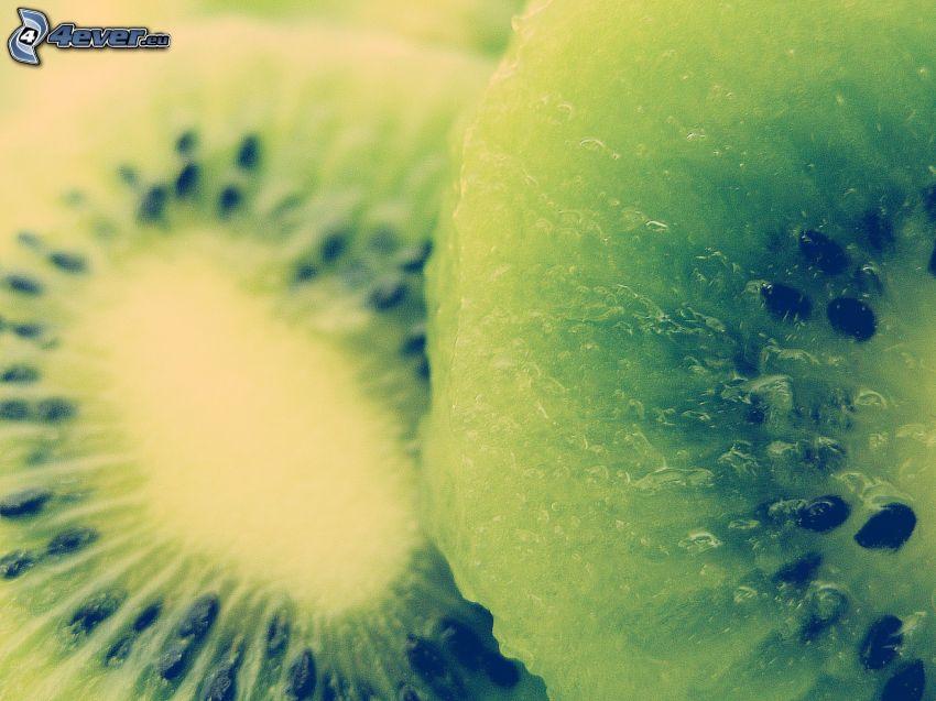 kiwi en rodajas