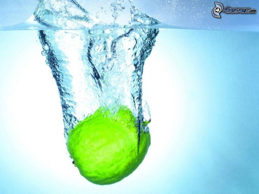 lima, agua, burbujitas