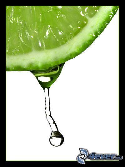 lima, gota de agua