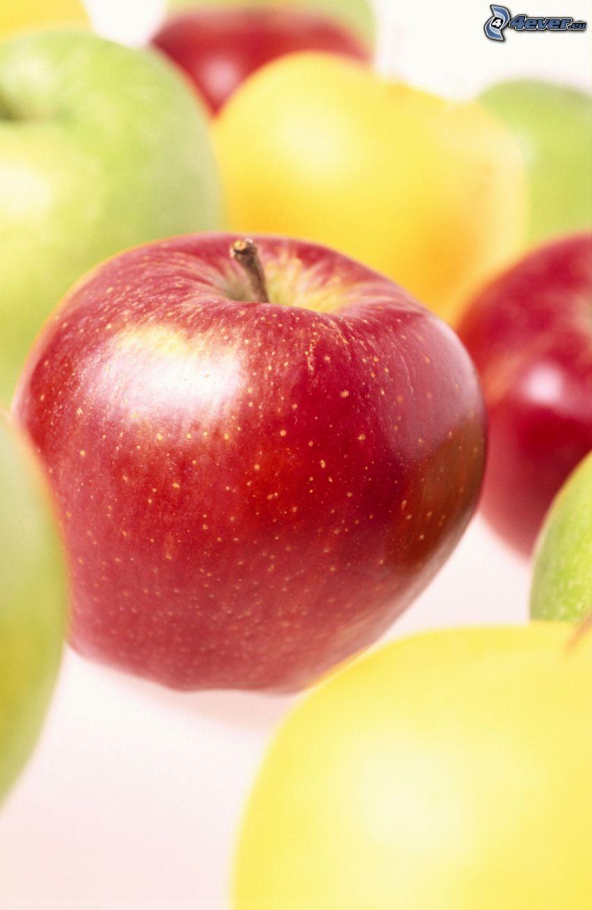 manzana roja, manzanas