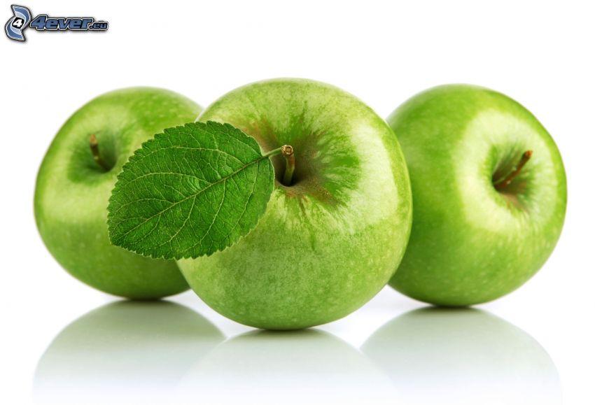 manzanas verdes, hoja