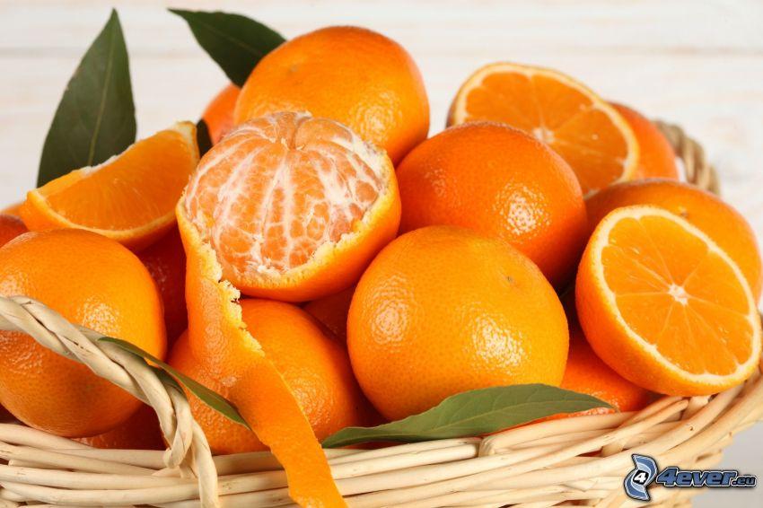naranjas, tangerinas