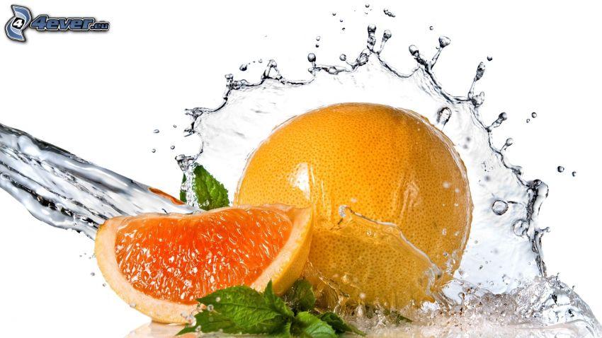pomelo, corriente de agua
