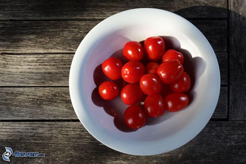 tomates cherry, mesa