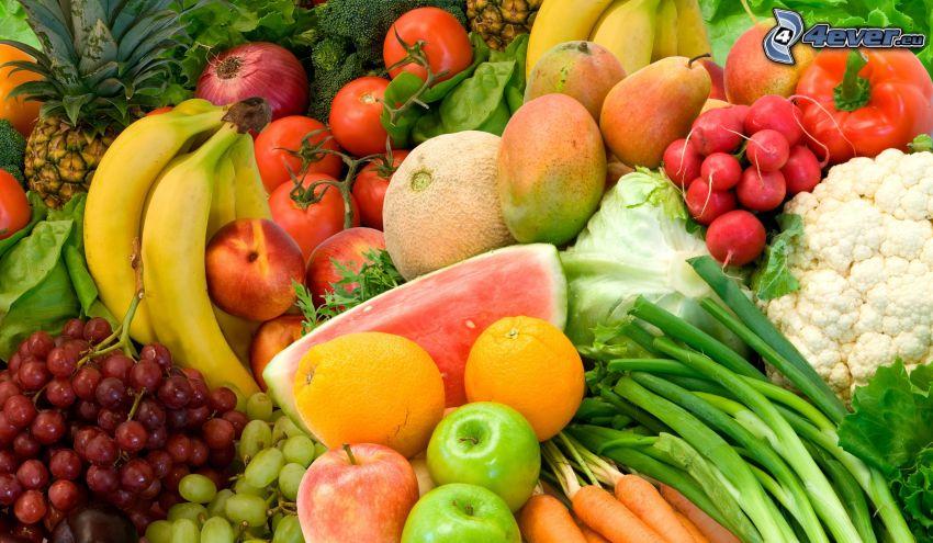 verduras, fruta
