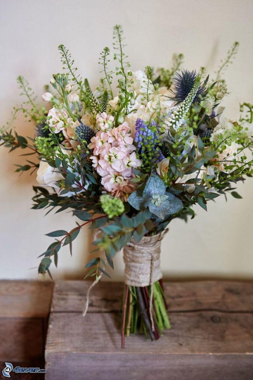 ramo, flores de campo