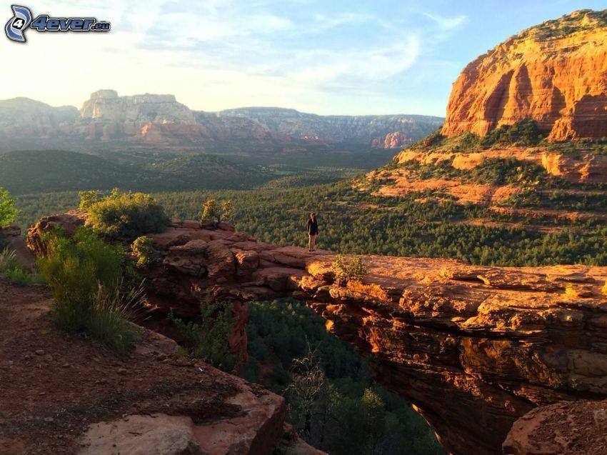 Sedona - Arizona, rocas, valle, turista