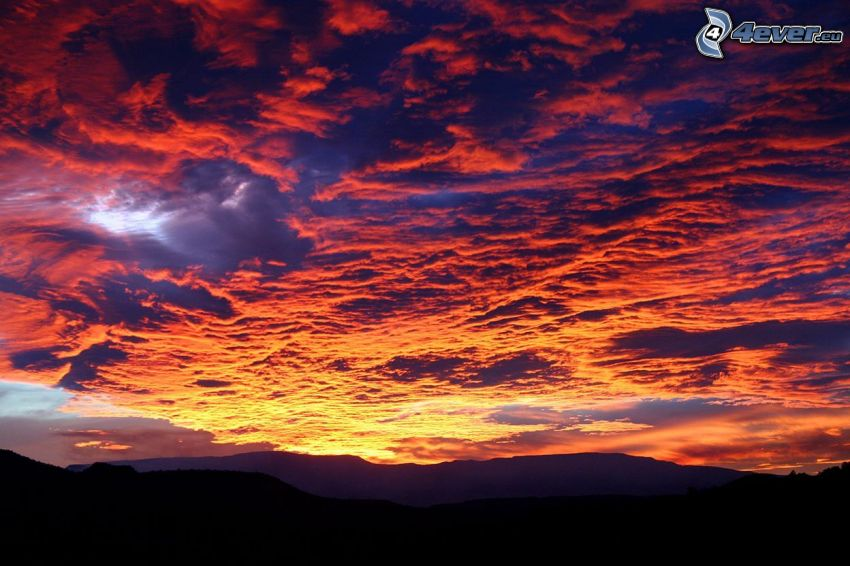 Sedona - Arizona, sierra, nubes