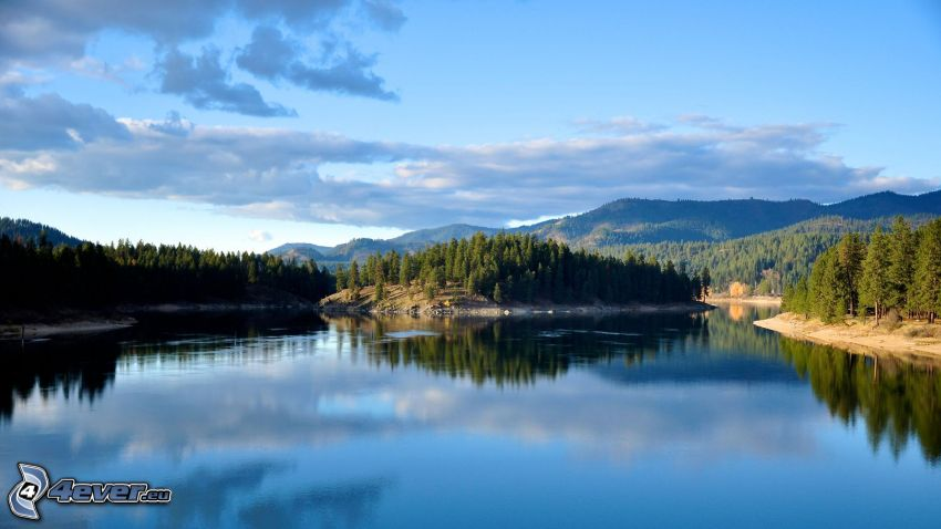 sierra, lago