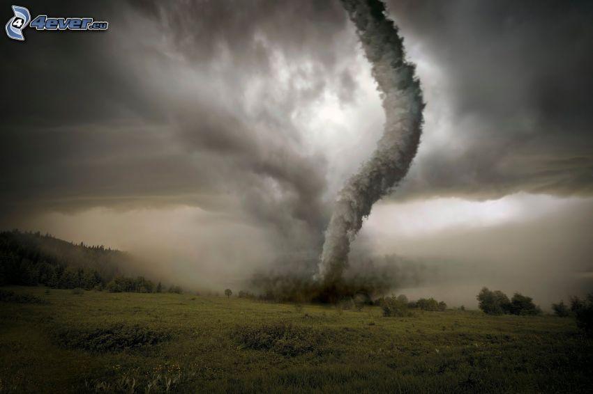 tornado, nubes oscuras