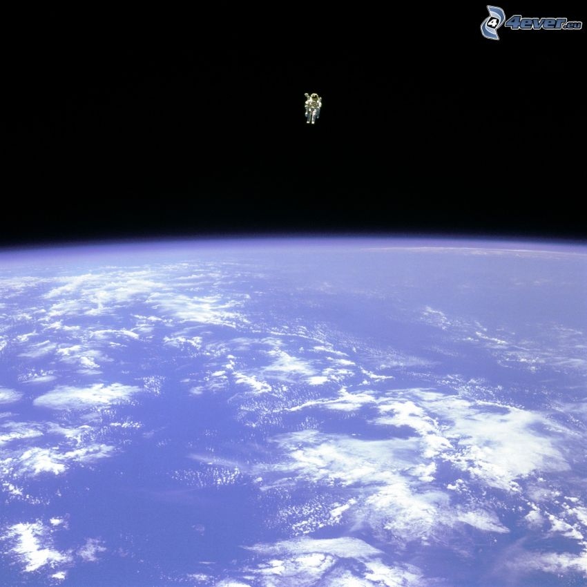 Bruce McCandless II, astronauta, universo, STS-41B, Tierra