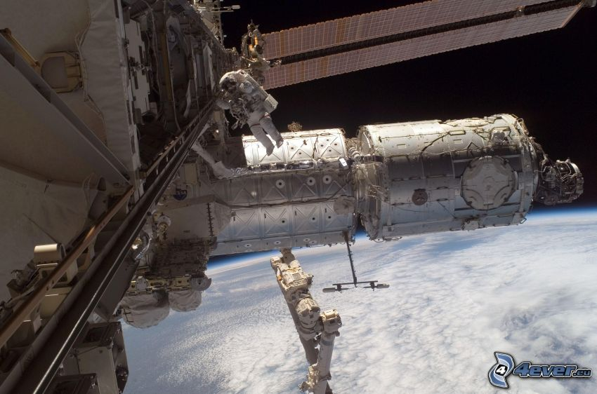 Estación Espacial Internacional ISS, astronauta