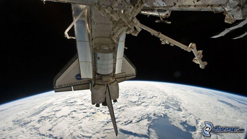 Estación Espacial Internacional ISS, Tierra, transbordador espacial