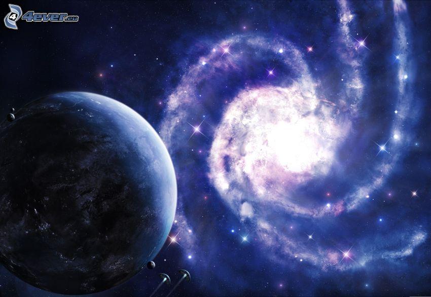 galaxia, planeta