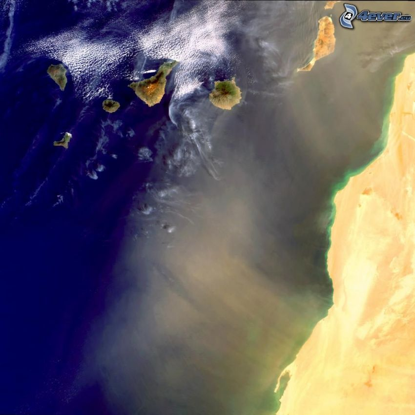 imagen del satélite, costa