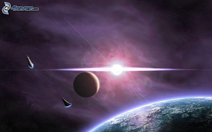 mes, sol, Tierra, ciencia ficción