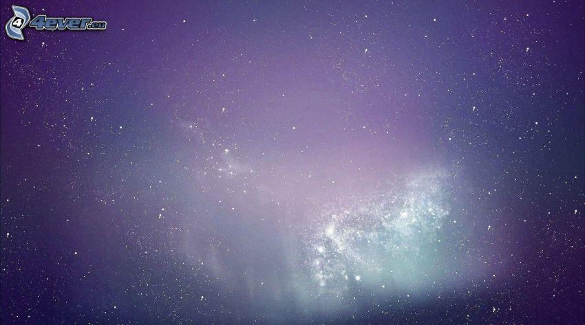 Nebulosa, cielo estrellado