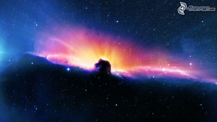 Nebulosa Cabeza de Caballo, estrellas