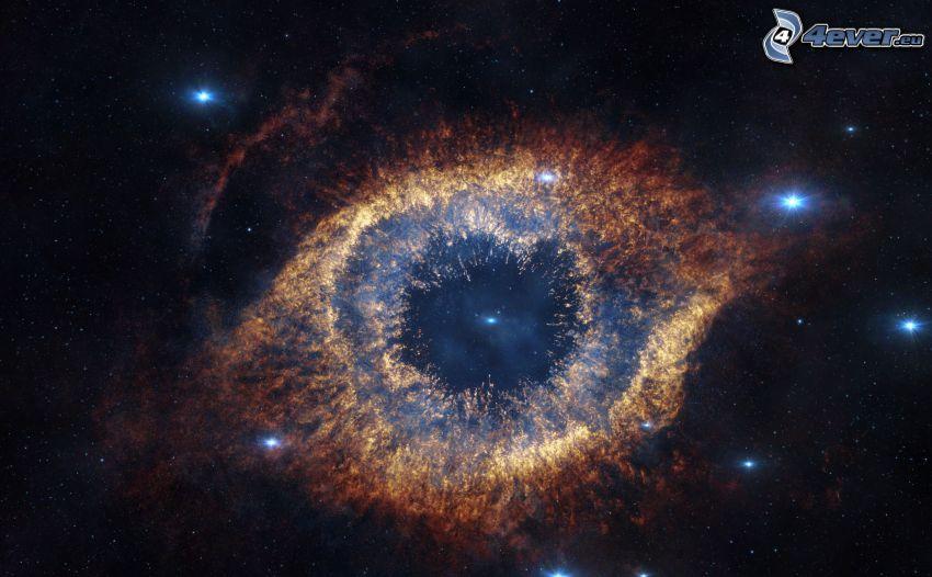Nebulosa de la Hélice, estrellas