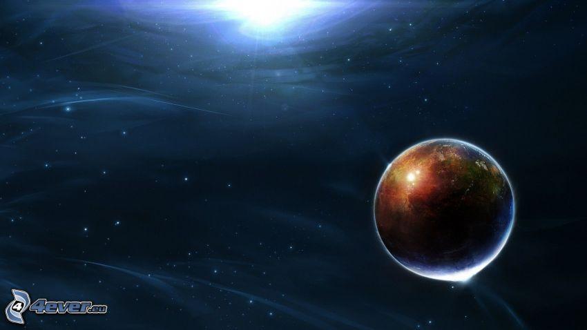 planeta, luz del universo