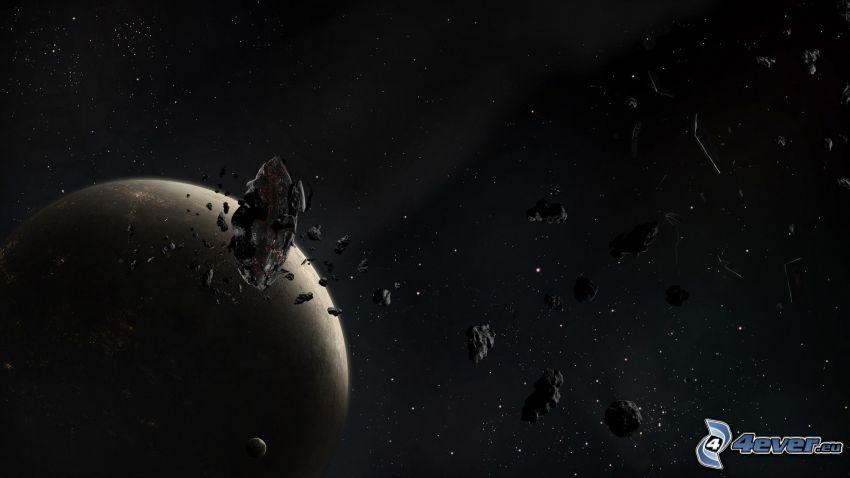 planeta, meteoritos